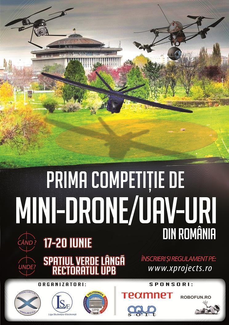 COMPETITIE MINIDRONE SI UAV-URI ROMANIA